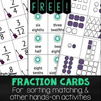 photo relating to Free Printable Fraction Games identify Cost-free Portion Playing cards for sorting, matching, other arms-upon functions