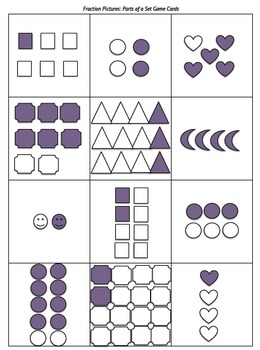 FREE Fraction Cards for sorting, matching, & other hands-on activities