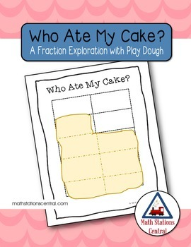 FREE Fraction Exploration:  Who Ate My Cake?