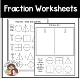 FREE Fraction Worksheets (1/2 and 1/4)