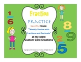 FREE Fraction and Decimals Practice Sampler