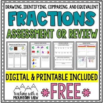 FREE Fractions Assessment Printables
