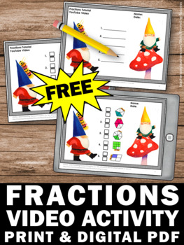 FREE Fractions Worksheet & Fractions Quiz Video, 3rd Grade Math Review