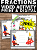 FREE Fractions Video & Worksheet 3rd Grade Common Core Mat