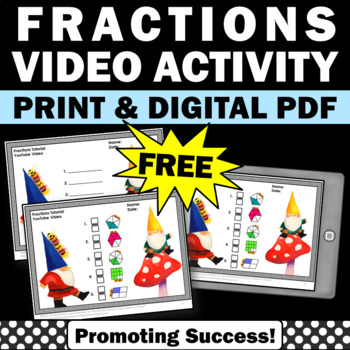 free 3rd grade fractions video worksheets activities math