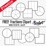 Fractions Clip Art ~ FREE! Black & White Outlines