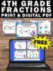 FREE Fractions Task Cards 4th Grade Common Core Math Cente
