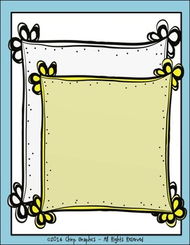 FREE Petal Frames Clip Art - Chirp Graphics