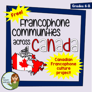 FREE - Francophone Communities Across Canada Project (Completely Editable)