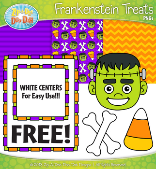 FREE Frankenstein Treat Clipart & Papers Set {Zip-A-Dee-Doo-Dah Designs}