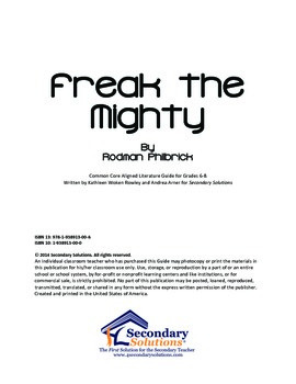 Freak the Mighty Chapters 1-5 {FREE}