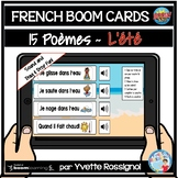 French Boom Cards Distance Learning FREE  Poèmes pour L'ÉT