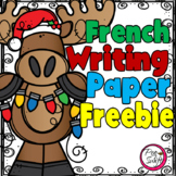 FREE French Christmas Writing Paper