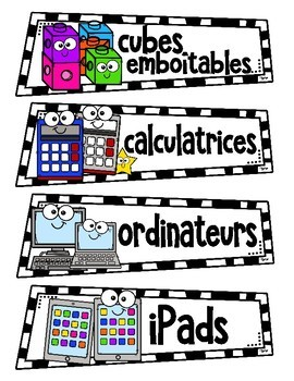 FREE - French Classroom Supply Labels