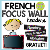 FREE French Daily Focus Wall labels - Chalkboard