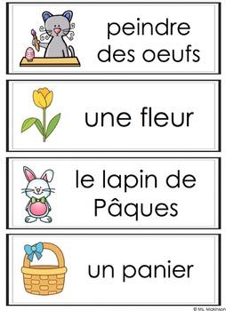 FREE French Easter Words - Mots de Pâques