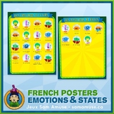 FREE • French Emotions & States Poster • Circus Theme