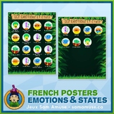 FREE • French Emotions & States Poster • Jungle Theme