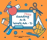 FREE French Reading levels AA-D