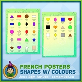 FREE • French Shapes with Colours Poster • Abstract Theme