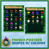 FREE • French Shapes with Colours Poster • Jungle Theme