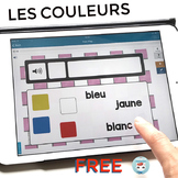 Les couleurs French Colours Audio Digital Task Cards | FREE French BOOM Cards