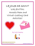 FREE French Valentine's Acrostic Poem and Virtual Greeting Cards