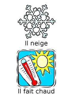 FREE French Weather Flashcards +Extra
