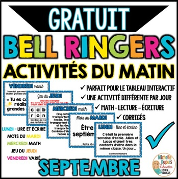 FREE French bell ringers - one week  -  Activités du matin - échantillon gratuit