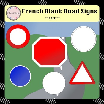 Clip Arts - French Blank Road Signs FREEBIE