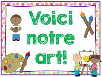FREE French classroom bulletin board signs