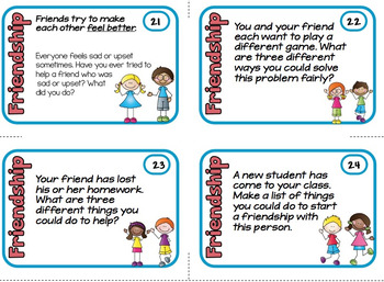 Friendship Cards Social Skills Prompts