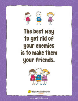 FREE Friendship Poster A4 - Use with Enemy Pie Picture Book