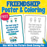 FREE ENEMY PIE Friendship Poster to use with the Picture Book