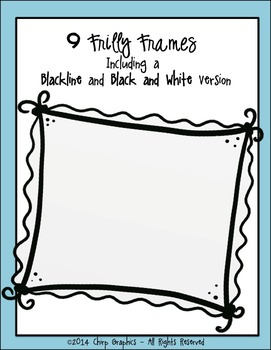 FREE Frilly Frames Clip Art Set - Chirp Graphics