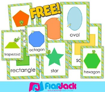 FREE Frog Themed Shape Posters - SPANISH Version Included