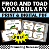 FREE Frog and Toad All Year Book Companion Vocabulary Task Cards