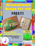 FREE FOR LIMITED TIME Froggie's Speech Articulation Practice: initial /ch/