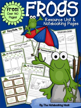 FREE Frogs Resource Unit and Notebooking Pages