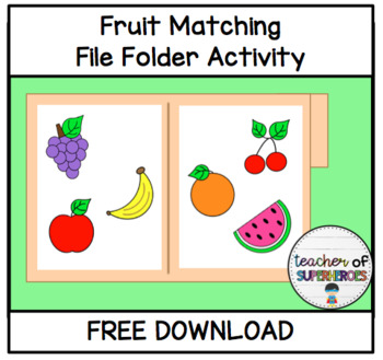 FREE Fruit Matching File Folder Game