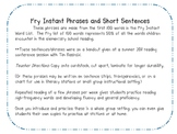 FREE Fry's Short Sentences and Phrases for Fluency