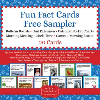 FREE Fun Fact Cards Sampler Pack