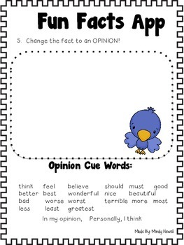 FREE Fun Facts App and FREE Accountability Activity Sheet