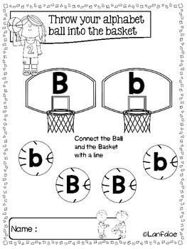 FREE Fun Learning Alphabet Basketball Edition