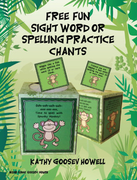 FREE Fun Sight Word or Spelling Practice Chants