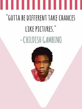 Funk Hip Hop Music CHILDISH GAMBINO Growth Mindset Motivational POSTERS