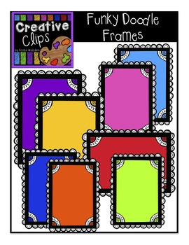 {FREE} Funky Doodle Frames! {Creative Clips Digital Clipart}