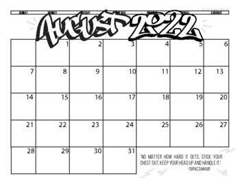 Graffiti School Calendar 2018-2019