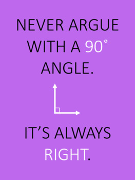 FREE Funny MATH Posters set