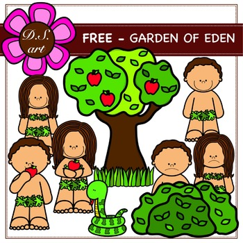 FREE - GARDEN OF EDEN Digital Clipart (color and black&white)